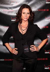 Amy Landecker at the Verizon Wireless Launch of DROID.