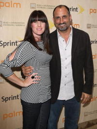 Paula Papajohn and Michael Papajohn at the Palm Pre Launch Event to Benefit Iraq and Afghanistan Veterans of America.