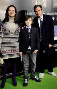 Beatriz Corredor, Max Records and Spike Jonze at the premiere of