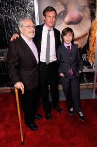Maurice Sendak, Spike Jonze and Max Records at the premiere of
