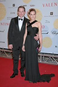 Sarah Jessica Parker and Matthew Broderick at the post haute couture show gala dinner and ball in the Parco dei Daini for Valentino : 45th Anniversary Celebration.