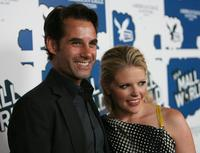 Adrian Pasdar and Natalie Maines at the premiere of