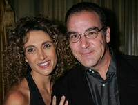 Melina Kanakaredes and Mandy Patinkin at the Museum of Television & Radio's Annual Los Angeles gala.