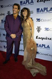 Adrian Paul and Kelly Hu at The Envelope Please Oscar Viewing Party.