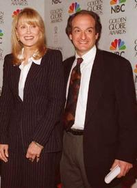 Faye Dunaway and David Paymer at the announcing nominations for the 53rd Annual Golden Globe Awards.