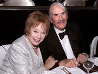 Gregory Peck and Shirley MacLaine at the 2000 Scopus Award Beverly Hilton Hotel in Los Angeles.