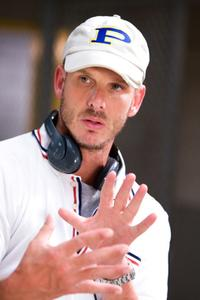 Director Peter Berg on the set of