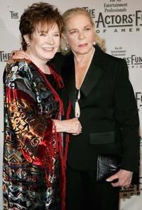 Polly Bergen and Lauren Bacall at The Actors Fund of America 'There's No Business Like Show Business' Gala.