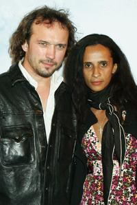 Vincent Perez and Karine Silla at the premiere of