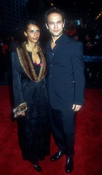 Korine and Vincent Perez at the world premiere of