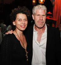 Donna Langley and Ron Perlman at the after party of the world premiere of