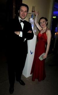 Christian McKay and Guest at the after party of BAFTA Soho House Grey Goose in England.