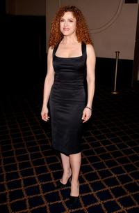 Bernadette Peters at the Broadway's Celebrity Benefit for Hurricane Relief.
