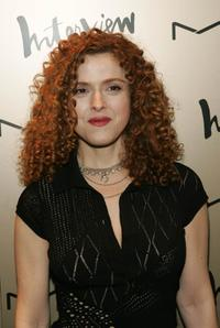 Bernadette Peters at the Zac Posen after party.