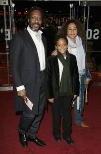 Clarke Peters and his family at the UK premiere of