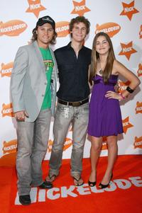 Mark Furze, Rhys Wakefield and Charlotte Best at the Nickelodeon Australian Kids' Choice Awards 2007.