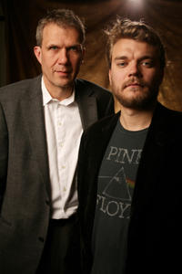 Producer Thomas Heinesen and Pilou Asbaek at the portrait session of