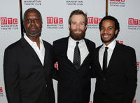 Andre Braugher, Jay Wilkison and Andre Holland at the opening night party for