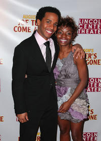 Andre Holland and Marsha Stephanie Blake at the opening night party for