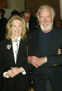 Christopher Plummer and wife at the after party of
