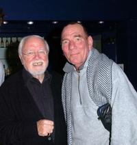 Lord Richard Attenborough and Pete Postlethwaite at the premiere of