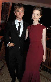 Henry Hopper and Mia Wasikowska at the dinner of