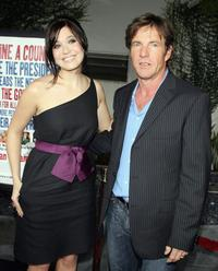 Dennis Quaid and Mandy Moore at the premiere of