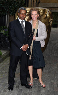 Hugh Quarshie and guest at the BAFTA Craft Awards in England.
