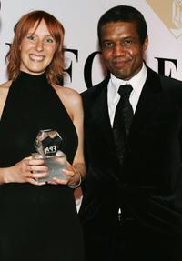 Christine Butler and Hugh Quarshie at the Press Association Annual awards.