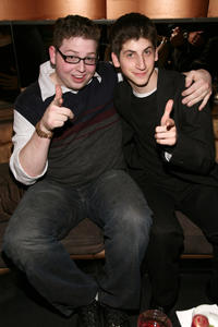 Brandon Hardesty and Steven J. Kaplan at the after party of the premiere of