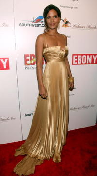 Halle Berry at the Ebony Pre-Oscar Celebration.