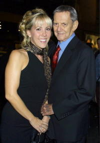 Tony Randall and his wife at the opening of