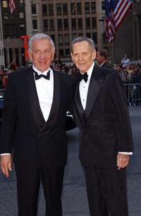 Tony Randall and Heather Harlan at the world premiere of