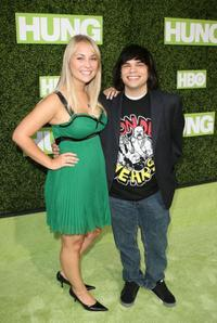 Mianna Saxton and Charlie Saxton at the premiere of