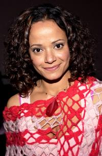 Judy Reyes at the Mercedes-Benz Fashion week.