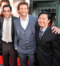 Todd Phillips, Bradley Cooper and Ken Jeong at the premiere of