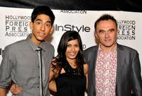 Dev Patel, Freida Pinto and Director Danny Boyle at the InStyle And The Hollywood Foreign Press Association's party during the 2008 Toronto International Film Festival.