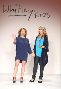 Marissa Ribisi and Sophia Coloma at the Whitley Kros Fall 2008 fashion show during the Mercedes Benz Fashion Week.