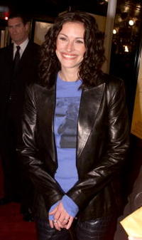"Roberts at the premiere of ""The Mexican"" in Los Angeles."