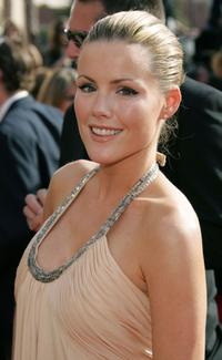 Kathleen Robertson at the 57th Annual Emmy Awards.