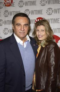 Tony Lo Bianco and Elizabeth at the screening of