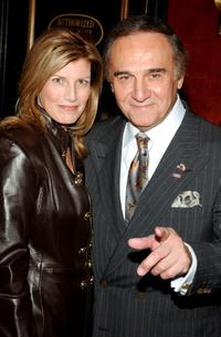 Tony Lo Bianco and Elizabeth at the New York premiere of