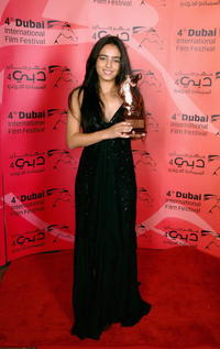 Hafsia Herzi at the 2nd Annual Muhr Awards for Excellence during the 4th Dubai International Film Festival.