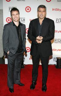 Sam Rockwell and George Clooney, at the The Los Angeles Film Festival's First Annual