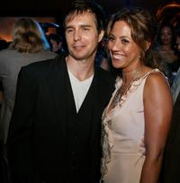 Sam Rockwell and Elizabeth Rodriguez at the after party for the premiere of