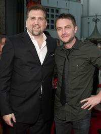 Daniel Roebuck and Chris Hardwick at the premiere of