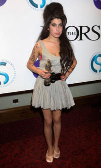 Amy Winehouse at the Ivor Novello Awards in London.