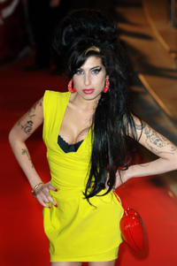 Amy Winehouse at the Brit Awards 2007 in London.