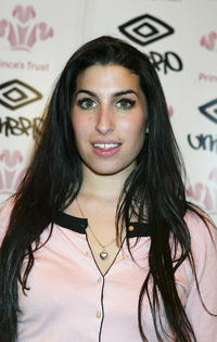 Amy Winehouse at the first day of the Prince's Trust Urban Music Festival in London.