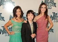 Seychelle Gabriel, Noah Ringer and Nicola Peltz at the New York premiere of